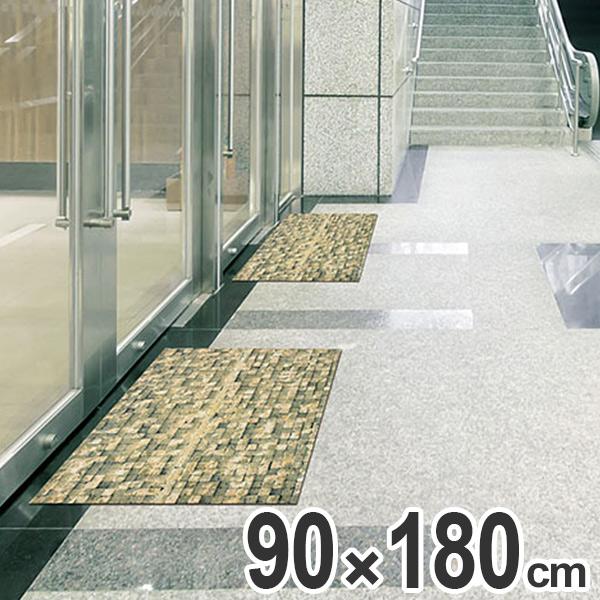 玄関マット Office & Decor Brick Wall 90×180cm ( 送料無料 業務用 屋内 建物内 オフィス 事務所 来客用 デザイン オフィス&デコ おしゃれ )【4500円以上送料無料】