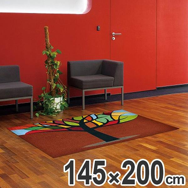 玄関マット Office & Decor Stained Tree 145×200cm ( 送料無料 業務用 屋内 建物内 オフィス 事務所 来客用 デザイン オフィス&デコ おしゃれ )【4500円以上送料無料】