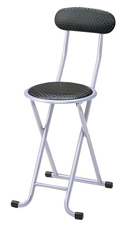 6脚セット 折りたたみイス ロック機能付き ブラック( パイプ椅子 折り畳み 椅子 背もたれ チェア 送料無料 ) 【4500円以上送料無料】