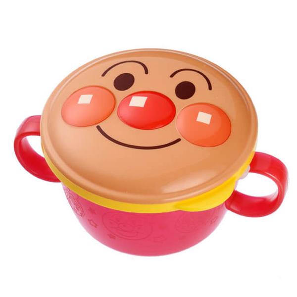 アンパンマンの顔を立体的にデザインした可愛いボーロカップ おやつケース アンパンマン ボーロカップ 赤ちゃん ベビー 日本製 ( お菓子ケース ボーロケース 両手 持ちやすい ボーロ ハンドル付き おやつカップ 中蓋 こぼれにくい )【3980円以上送料無料】