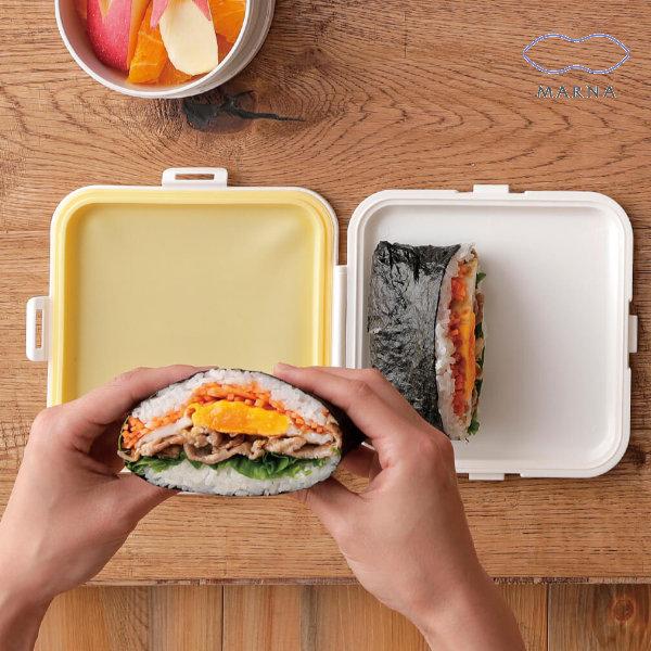 サンドイッチ おにぎらずを簡単に作って持ち運べるランチケース おにぎりケース 弁当箱 ぴたっとランチケース サンドイッチケース ランチケース ランチボックス お弁当 おにぎり型 おにぎらず サンドウィッチ プラスチック製 アウトレットセール 特集 弁当 3980円以上送料無料 数量は多 コンパクト おにぎり プラスチック スリム