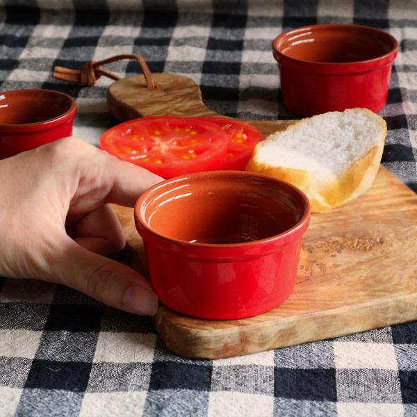ココット 7cm 洋食器 プランプ 6個セット ( 容器 陶器 電子レンジ対応 オーブン対応 かわいい 食器 器 皿 オーブンウェア オシャレ )