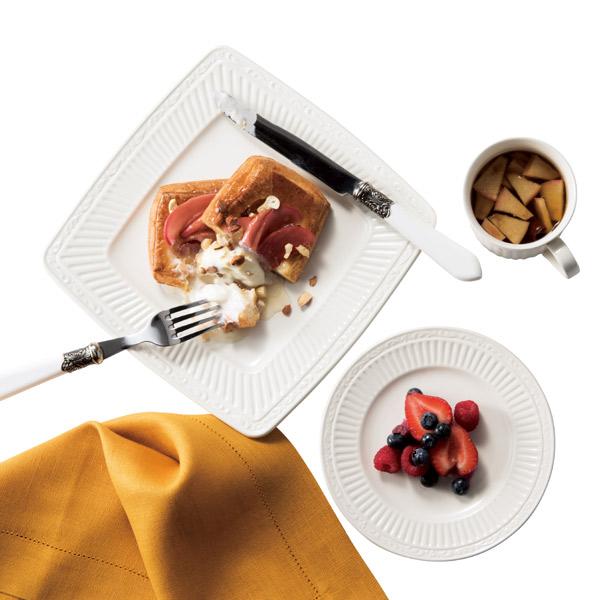 プレート 23cm イタリアンカントリーサイド スクエアプレート 洋食器 硬質陶器 同色6枚セット (  皿 食器 器 お皿 電子レンジ対応 食洗機対応 オーブン対応 中皿 白 おしゃれ 食洗機可 電子レンジ可 レンジ可 )【4500円以上】