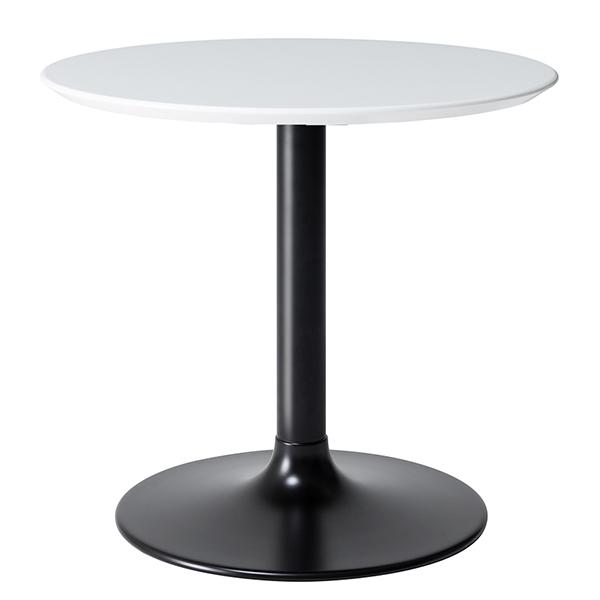 テーブル 円形 ダイニングテーブル LIETO 直径80cm ( 送料無料 カフェテーブル つくえ 机 開梱設置 開梱設置無料 コーヒーテーブル 丸 鏡面 ハイテーブル リビングテーブル )【3980円以上送料無料】