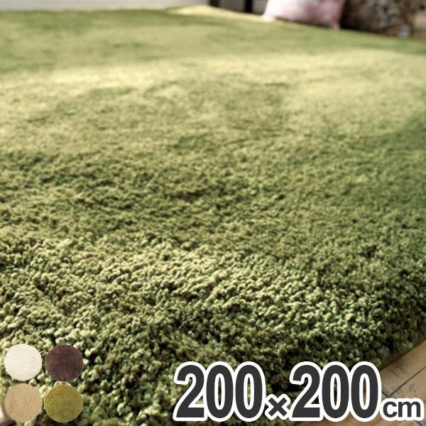 ラグ シャギーラグ モコ 200×200cm ( 送料無料 ラグマット シャギー 洗える 北欧 カーペット 絨毯 じゅうたん ホットカーペット対応 おしゃれ ふわふわ 速乾性 吸収性 )