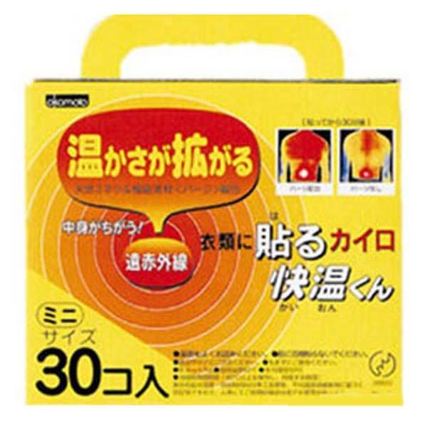 使い捨てカイロ 貼る 快温くん ミニ 30個×16箱セット 送料無料 【3980円以上送料無料】