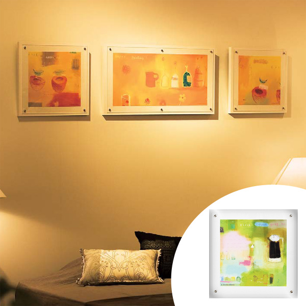 インテリアアート エマ・デイヴィス ハッピーグリーン 01 ( 送料無料 アートパネル 壁掛け 壁飾り アート アートデコ ウォールアート 絵画 インテリア 美術品 おしゃれ 引越 祝い ) 【4500円以上送料無料】