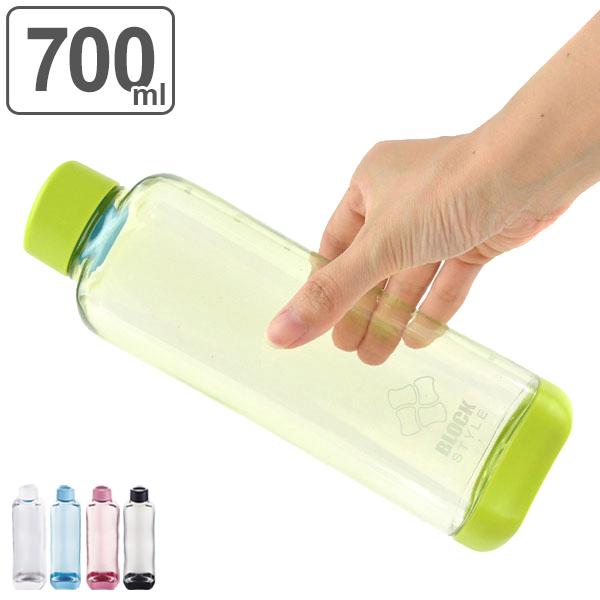 BPAフリー スポーツドリンク作りに便利な目盛付きボトル 水筒 プラスチック 高級 ブロックスタイル アクアボトル 700ml ウォーターボトル 新色 ボトル 目盛り付き クリア 3980円以上送料無料 スポーツドリンク スポーツ スタッキング マグボトル ダイレクトボトル クリアボトル プラボトル 軽い 直飲み