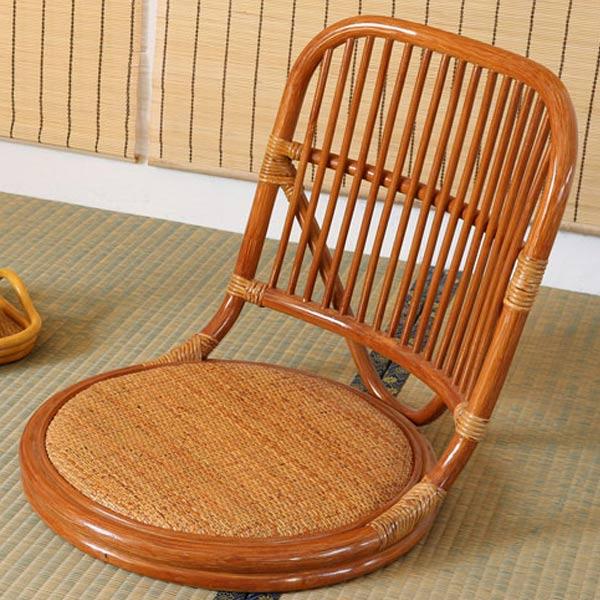 籐 ラタン やわらか座椅子 ( 送料無料 座椅子 椅子 イス フロアーチェアー 正座椅子 やわらか 通気性 涼しい 和室 籐 ラタン 軽い 自然素材 リラックス ラタンやわらか座椅子 )【3980円以上送料無料】