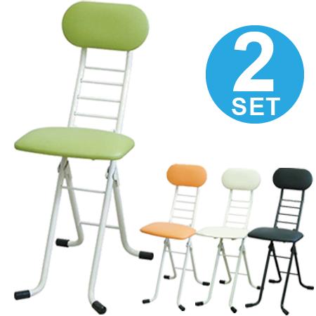 折りたたみ椅子 ワーキングチェア ジョイ 2脚セット 座面高さ調節 ( 送料無料 カウンターチェア デスクチェア ハイチェアー フォールディングチェア パイプ椅子 イス 昇降 キッチンチェア ) 【4500円以上送料無料】