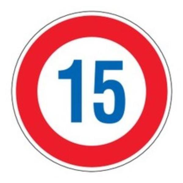 標識 道路標識 平リブタイプ 反射 15キロ 道路323-15K AL ( 送料無料 安全標識 表示 表示シート 構内 平リブ標識 )【3980円以上送料無料】