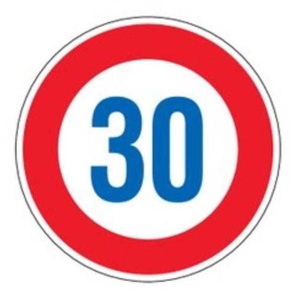 標識 道路標識 平リブタイプ 反射 30キロ 道路323-30K AL ( 送料無料 安全標識 表示 表示シート 構内 平リブ標識 )【3980円以上送料無料】