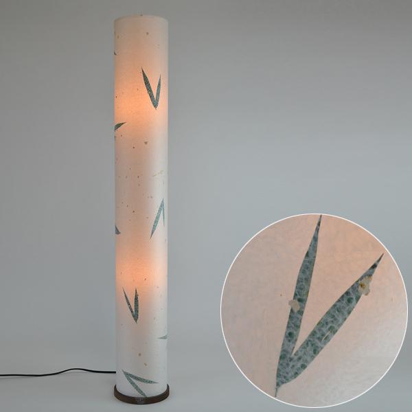 フロアライト 和紙 金箔笹 2灯 ( 送料無料 フロアスタンド 照明 スタンドライト LED フロアスタンドライト おしゃれ 照明器具 スタンド照明 中間スイッチ 間接照明 国産 日本製 ) 【4500円以上送料無料】