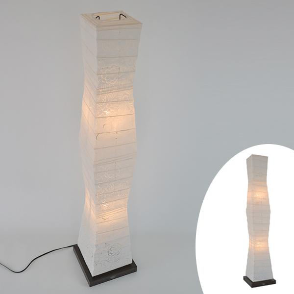 フロアライト 和紙 komorebi 椿 2灯 ( 送料無料 フロアスタンド 照明 スタンドライト LED フロアスタンドライト おしゃれ 照明器具 スタンド照明 中間スイッチ 間接照明 国産 日本製 ) 【3980円以上送料無料】