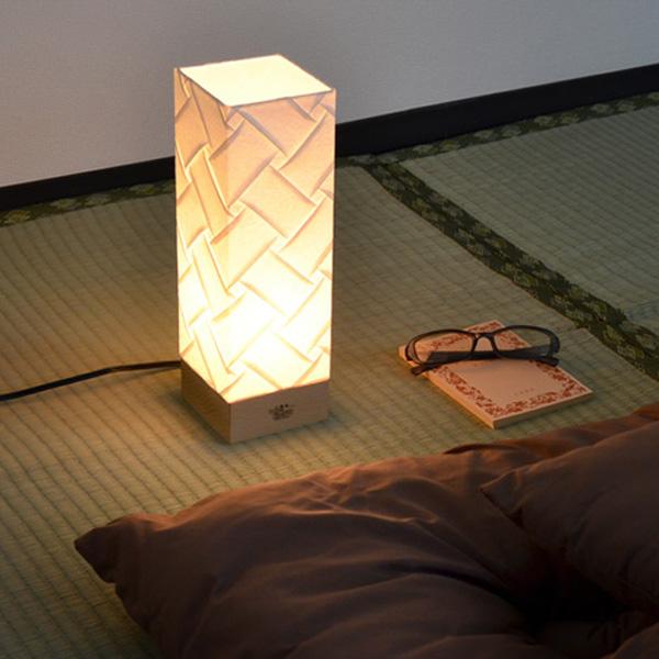 テーブルライト 和紙 プリーツ 角型 織姫 1灯 ( 送料無料 照明 和風 テーブル LED 和室 和モダン デスク 照明器具 和照明 おしゃれ 日本製 )【4500円以上送料無料】