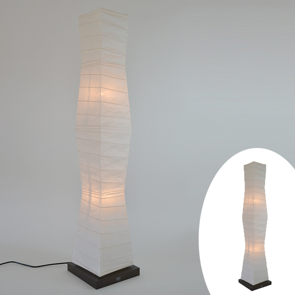フロアライト 和紙 フロアランプ 楮紙白 2灯 ( 送料無料 フロアスタンド 照明 フロアスタンドライト LED スタンドライト おしゃれ 照明器具 スタンド照明 中間スイッチ 間接照明 国産 日本製 ) 【4500円以上送料無料】