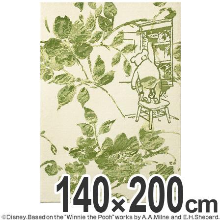 ラグ カーペット スミノエ くまのプーさん フィオーレラグ 140×200cm ( 送料無料 ラグマット センターラグ 絨毯 じゅうたん 防ダニ ディズニー キャラクター リビング Disney ) 【4500円以上送料無料】