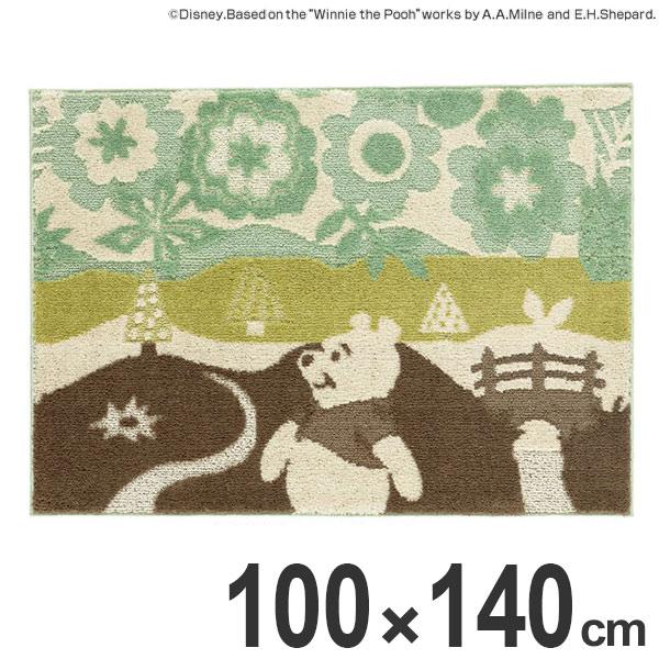ラグ スミノエ くまのプーさん インザウッドラグ 100×140cm ( 送料無料 ディズニー ラグマット 絨毯 プーさん Disney キャラクター ホットカーペット対応 防ダニ 国産 センターラグ マット カーペット )【4500円以上送料無料】