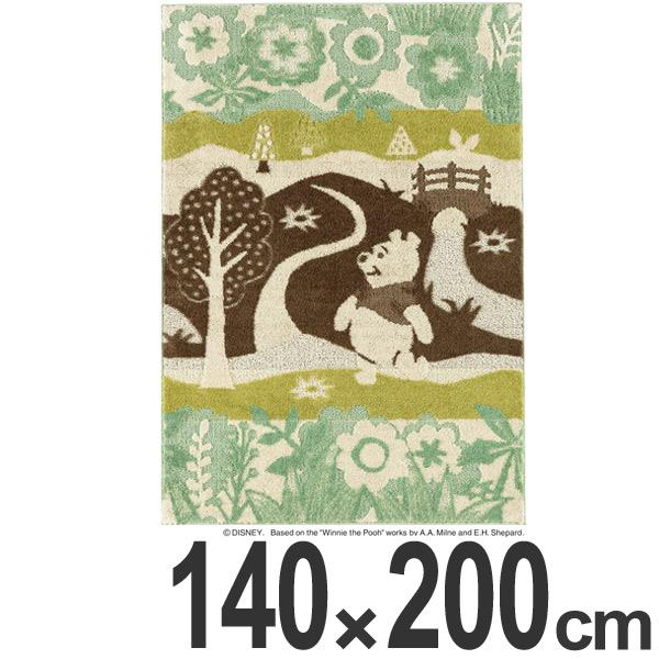 ラグ スミノエ くまのプーさん インザウッドラグ 140×200cm ( 送料無料 ディズニー ラグマット 絨毯 プーさん Disney キャラクター ホットカーペット対応 防ダニ 国産 センターラグ マット カーペット )【4500円以上送料無料】