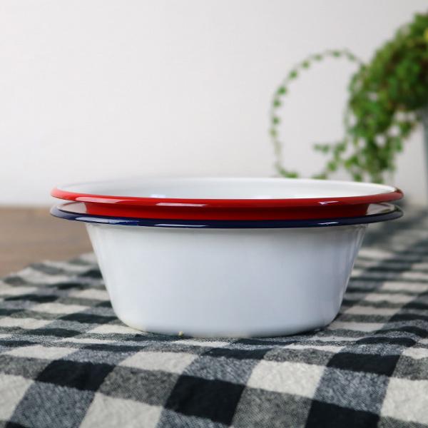 ボウル 16cm レトロモーダ 洋食器 樹脂製 日本製 ( 皿 深皿 食器 電子レンジ対応 食洗機対応 ホーロー風 白 ホワイト 食洗機可 電子レンジ可 レンジ可 )【4500円以上】