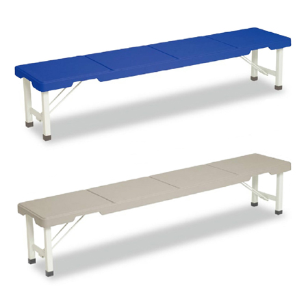 長椅子 スタッキングブローベンチ 背なし 折りたたみ式 180cm ( 送料無料 ベンチ プラスチック 樹脂製 積み重ね ) 【3980円以上送料無料】