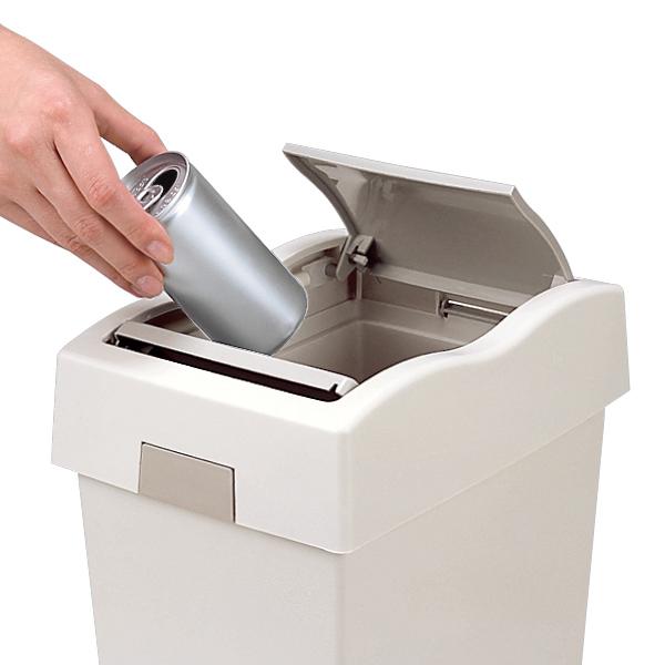 スリムでコンパクトだから場所を選ばない ゴミ箱 開店祝い ダスト プッシュ 5型 グレー 予約販売品 屑入れ くずかご リビング ごみ箱 プッシュ式 3980円以上送料無料