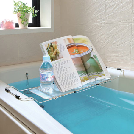 With Bathtub Tray Expansion And Contraction Type Candy Nic Bus Bookstand ( Half Length Bath Goods Bathtub Rack)