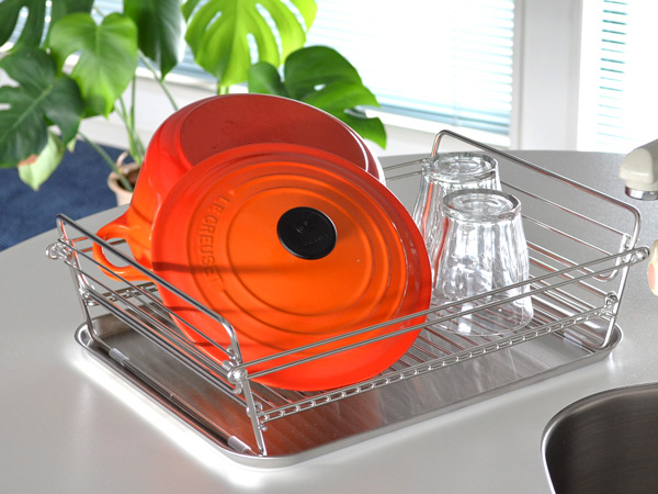滤水架子SUI我的明星不锈钢折叠小型除去水分框大日本制造(框厨房用品厨房折叠式suimaisuta)
