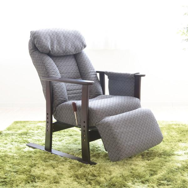 リクライニングチェア 高座椅子 フットレスト付 こずえ 幅63cm ( 送料無料 チェア イス 座椅子 リクライニング式 背もたれ 一人掛け 一人用 ガス式 無段階リクライニング ) 【4500円以上送料無料】