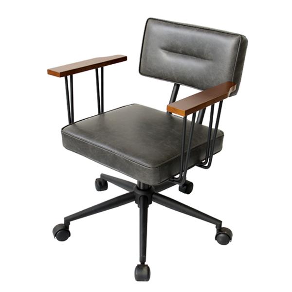 オフィスチェア レザー調 ( 送料無料 チェア デスクチェア ワークチェア チェアー 椅子 デスクチェアー ワークチェアー オフィスチェア 背もたれ アームレスト 昇降式 肘掛け付 )【4500円以上送料無料】