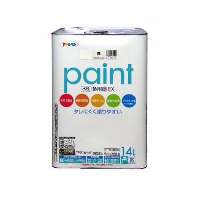 【送料無料】 アサヒペン 水性多用途EX アイボリー (全2色) [14L] 水性アクリル樹脂塗料