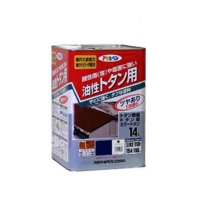 【送料無料】 アサヒペン 油性トタン用 新茶 (全9色) [14L] 合成樹脂調合ペイント