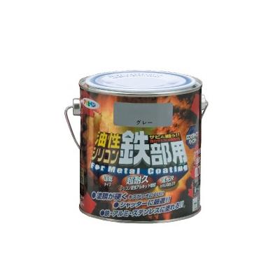 アサヒペン 油性シリコン鉄部用 こげ茶 (全10色) [5L] シリコン変性アルキド樹脂塗料