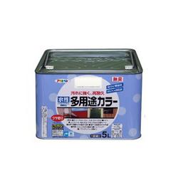 アサヒペン 水性多用途カラー [5L] アサヒペン・鉄部・屋根・木部・発泡スチロール・プラスチック・サビ止め・防サビ