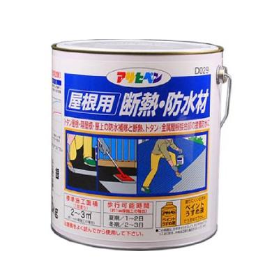 アサヒペン 屋根用断熱・防水材 [3kg] トタン屋根・陸屋根・防水・接合部・合成樹脂断熱防水材(溶剤系)