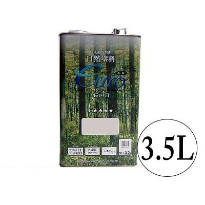大阪塗料 ユーロミツロウオイル(オイルワックス) (euro) [3.5L] 大阪塗料・自然塗料・屋内・屋外・木部用・撥水性・調湿性・ログハウス・焼き杉板
