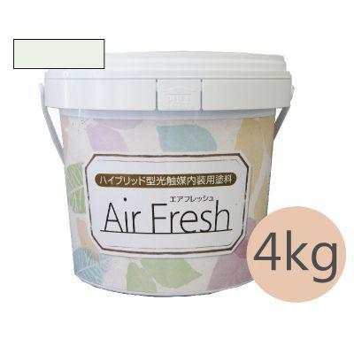 イサム AirFresh (エアフレッシュ) Shiro~白のやさしさ~ NO.014ライムホワイト [4kg] イサム塗料 ハイブリッド型光触媒内装用塗料 消臭効果 抗菌効果 抗カビ効果 ウイルス抑制効果