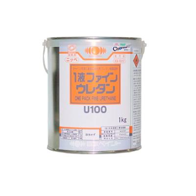 【弊社小分け商品】 ニッペ 1液ファインウレタンU100 JIS Z 9103 安全色 黄 27-80V [1kg] 日本ペイント 平成30年4月20日改正版