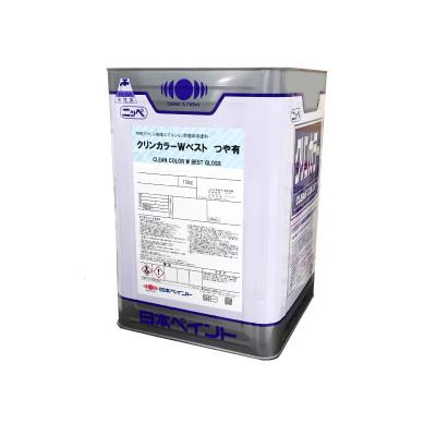 【送料無料】 ニッペ クリンカラーWベスト つや有り CB4 ウイローグリーン [15kg] 日本ペイント
