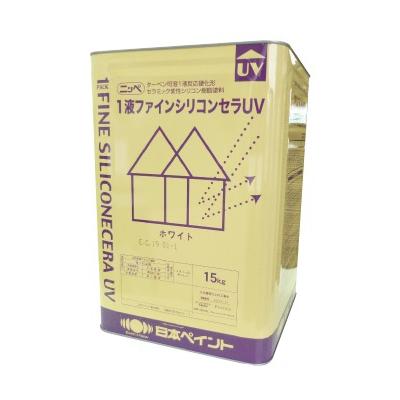 【送料無料】 ニッペ 1液ファインシリコンセラUV ホワイト(ND-101) [15kg] 日本ペイント