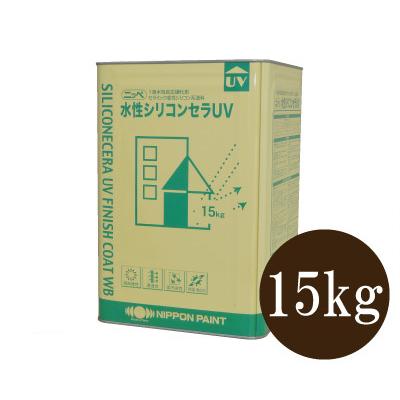 【送料無料】 ニッペ 水性シリコンセラUV ND色 淡彩 全48色 つや調整 [15kg] 日本ペイント