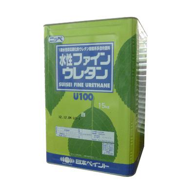 【送料無料】 ニッペ 水性ファインウレタンU100 ブラック [15kg] 日本ペイント