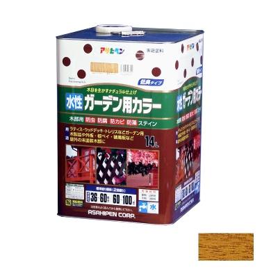 【送料無料】 アサヒペン 水性ガーデン用カラー パイン 14L [水性木部用塗料]