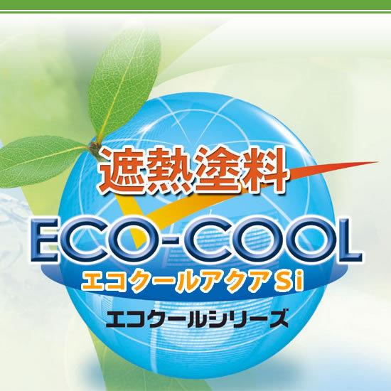【送料無料】 水性シリコン樹脂系遮熱塗料 エコクールアクアSi 屋根用カラー ECOアイスグレー [15kg] 大日本塗料