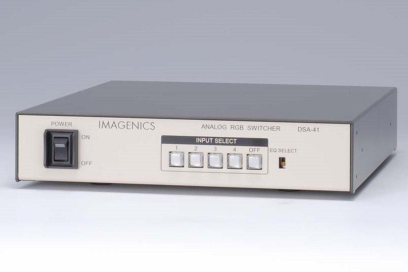 4入力1出力 アナログRGB 映像、音声スイッチャー(D-sub15仕様) IMAGENICS DSA-41