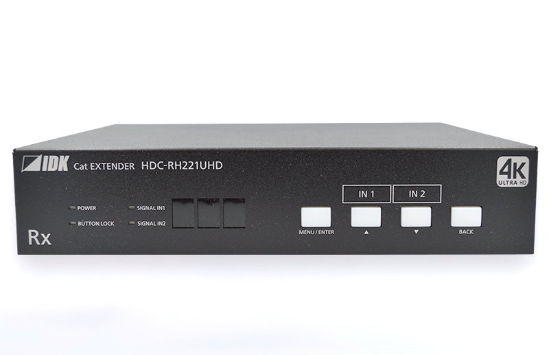 4K@60、HDCP 2.2対応 2入力3・5分配出力 ツイストペアケーブル延長器 IDK HDMI/DVIツイストペアケーブル延長器 HDC-RH221UHD
