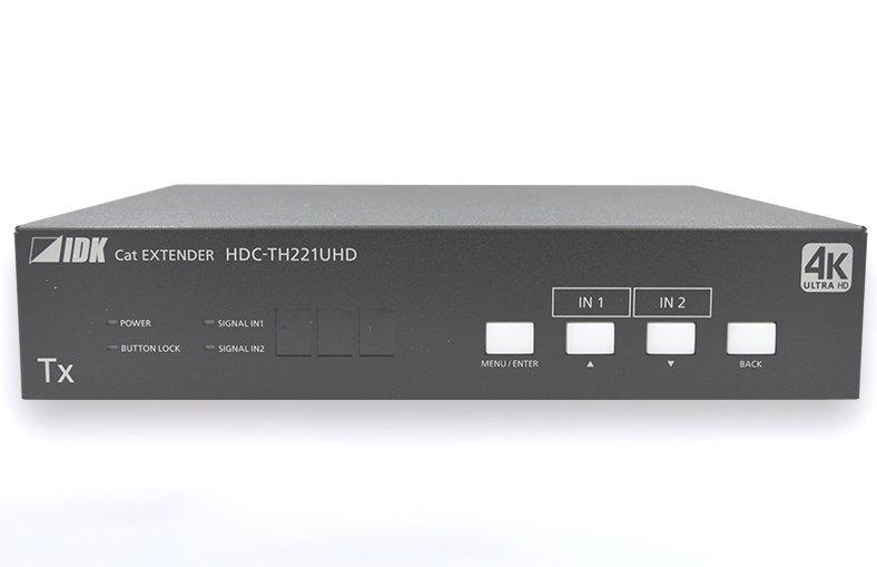 4K@60、HDCP 2.2対応 2入力3・5分配出力 ツイストペアケーブル延長器 IDK HDMI/DVIツイストペアケーブル延長器 HDC-TH221UHD