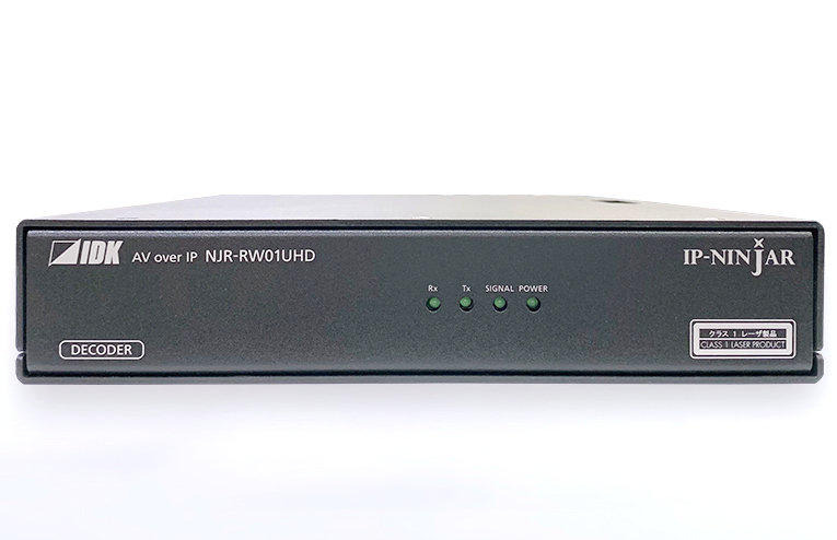 4K@60、HDCP 2.2対応 HDMI AV over IP (タフモデル) シングルモード IDK HDMI/DVI光ファイバーケーブル延長器・着脱式モジュール NJR-RW01UHD-SM(デコ―ダ)