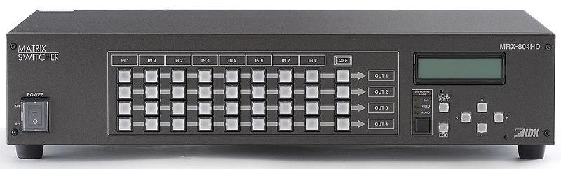 IDK HDCP対応デジタルマトリクススイッチャ MRX-804HD デジタルRGB信号(DVI1.0規格準拠)対応DVI-Iコネクタ搭載したマトリクススイッチャ