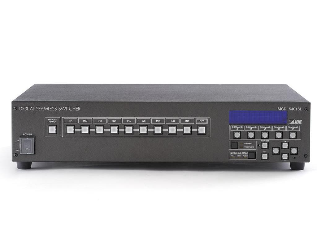 スキャンコンバータ内蔵デジタルシームレススイッチャ  IDK MSD-5401SL(9入力1出力)